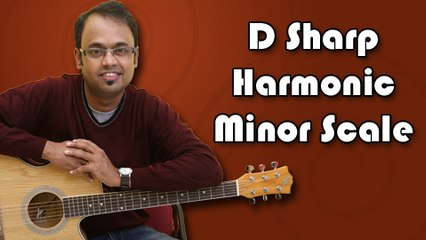 How To Play - D Sharp Harmonic Minor Scale - Guitar Lesson For Beginners