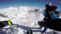 GoPro Run of George Rodney (USA) - Swatch Freeride World Tour 2015 Fieberbrunn Kitzbueheler Alpen by The North Face staged in Vallnord-Arcalis Andorra