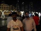 Sheikh Abdul Rehman at Dubai Burj Ul Khalifa Water Dance