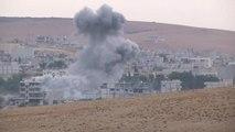 U.S.-led coalition launches 21 airstrikes near Kobani