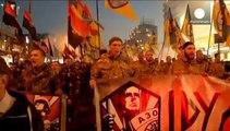 Manifestations des nationalistes et de l'extrême droite à Kiev