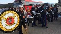 Battle de percussion entre les US marines et l'armée de Corée du sud : magique!