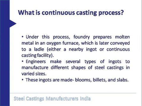 Steel castings manufacturers India