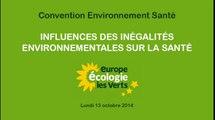 Convention Santé : Influence des inégalités environnementales sur la santé