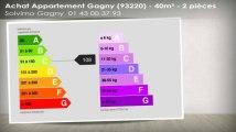 A vendre - appartement - Gagny (93220) - 2 pièces - 40m²