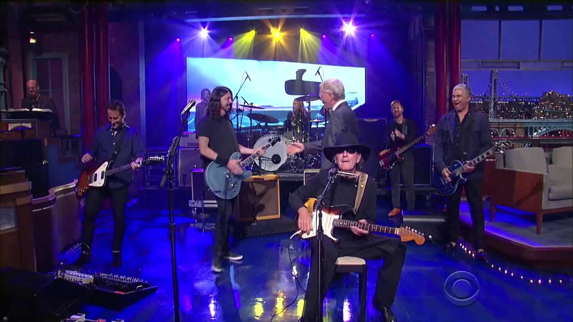 Foo Fighters w/ Tony Joe White Polk Salad Annie Letterman 2014 10 15