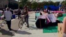 Etats-Unis : les manifestants ont planté leurs tentes