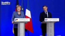 Sarkozy et Merkel - sourires complices