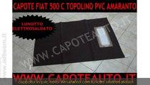 GROSSETO,    FIAT 500 C TOPOLINO CAPOTE CAPPOTTA PVC AMARANTO AUTO  EURO 190