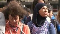 Des centaines de réfugiés afghans devant le cabinet du Premier ministre