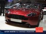 L'Aston Martin V12 Vantage S Roadster en direct du Mondial de l'Auto 2014