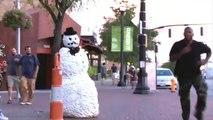 Un bonhomme de neige pas comme les autres