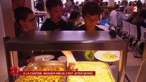 A côté de Lyon, une cantine scolaire lutte contre le gaspillage alimentaire.