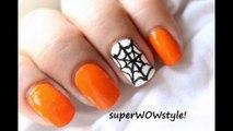 Halloween nail art ❤ Halloween nails polish designs ❤ 2014 tutorial no nails decals/strips/stickers