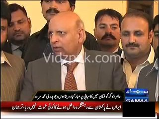 Javaid Hashmi by accepting his defeat graciously followed democratic principles :- Governor Punjab Ch.Sarwar