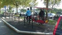 Inauguration piste cyclable à Nantes le 11 octobre 2014 avec le vélo-orchestre de Méli-Mélodies