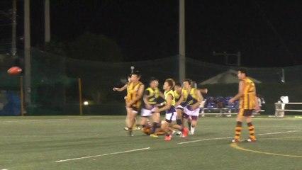 2014.10.18 ホークス対ポセイドンズ Q3 HAWKS vs POSEIDONS - AFL Japan Top League
