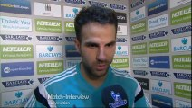 Crystal Palace 1-2 Chelsea - Cesc Fabregas Post Match Interview - Fabregas on target for Chelsea