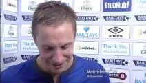 Everton 3-0 Aston Villa - Phil Jagielka Post Match Interview - Jagielka opens scoring for Everton