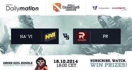 PR vs NaVi game 3 @ D2CL S4 Versuta & Smile