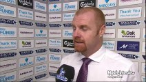 Burnley 1-3 West Ham - ean Dyche Post Match Interview - Dyche rues missed chances