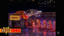 WWE Top 10 Halloween Havoc Moments featuring Goldberg, Bret Hart and Hulk Hogan in a monster truck!.