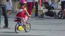 Juliette fait du vélo sans petites roues - Oct 14