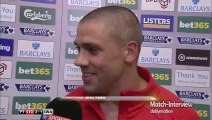 Stoke City 2-1 Swansea - Charlie Adam & Jonathan Walters Post Match Interview - Walters wins it for Stoke