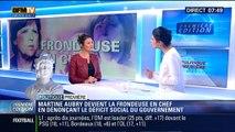 """Politique Première: Politique social du gouvernement: Martine Aubry se pose en chef des """"frondeurs"""" – 20/10"""