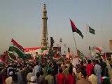 Pakistan's National Anthem under Minar-e-Pakistan (19-10-2014) PAT Gujar Khan