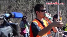 Rally Super Fan Imitates Race Cars Using Empty Can