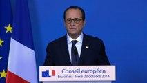 Conférence de presse lors du Conseil européen du 23 octobre 2014