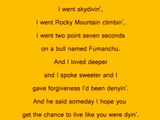 Live Like You Were Dying - Tim McGraw with lyrics