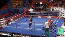 Boxer attacks referee - Croatia's Vido Loncar knocks out official after losing fight.