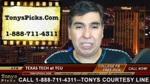TCU Horned Frogs vs. Texas Tech Red Raiders Free Pick Prediction NCAA College Football Updated Odds Preview 10-25-2014