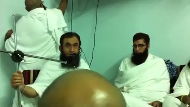 Shoaib Akhtar at Hajj with Tariq Jameel 2014