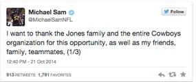 Hilarious Fake Reactions to Cowboys Cutting Michael Sam