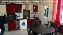 A vendre - appartement - CREIL (60100) - 2 pièces - 43m²