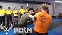 Roy Elghanayan's Krav Maga Students Sparring at REKM in Los Angeles