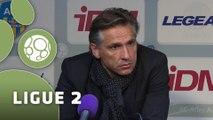 Conférence de presse AC Arles Avignon - Chamois Niortais (1-0) : Stéphane CRUCET (ACA) - Régis BROUARD (NIORT) - 2014/2015