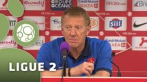 Conférence de presse Stade Brestois 29 - GFC Ajaccio (3-0) : Alex  DUPONT (SB29) - Thierry LAUREY (GFCA) - 2014/2015
