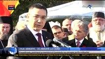 Traian Băsescu și Victor Ponta de Ziua Armatei Române
