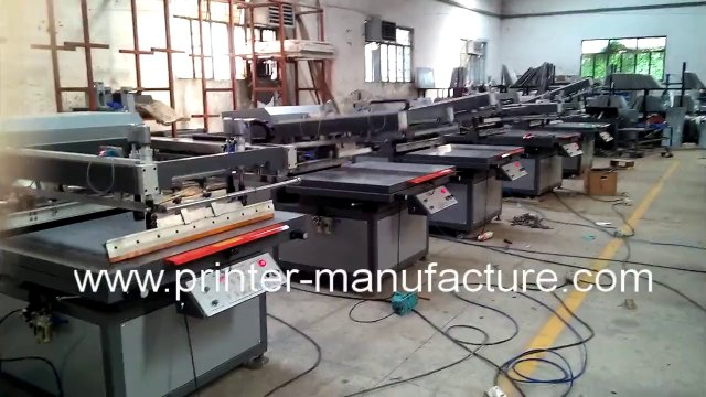 Flat Bed Screen Printing Machine Flat Screen Printer