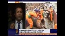 ألاف من الروهنجيا هاربين من ميانمار - تقرير قناة الجزيرة -Thousands of Rohingyas fleeing Myanmar (Al Jazeera Interview with Tun Khin)