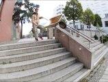Rider using wheel barrow to do skateboard tricks is hilariously absurd!