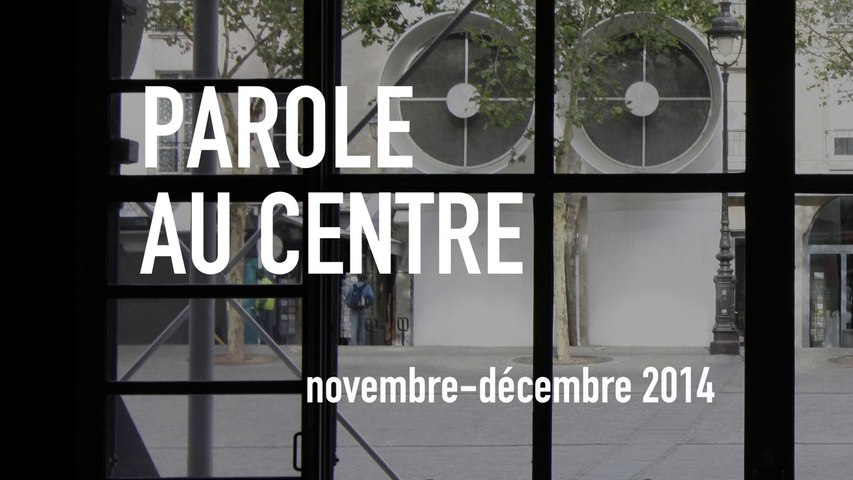 Parole au Centre - novembre/décembre 2014