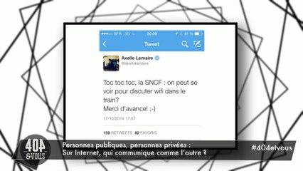 Le tweet d'Axelle Lemaire à la SNCF.