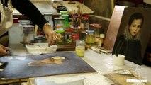 Isabelle Clément, restauratrice de tableaux et d'oeuvres d'art, au Salon International du Patrimoine Culturel au Carrousel du Louvre du 6 au 9 novembre 2014 à Paris