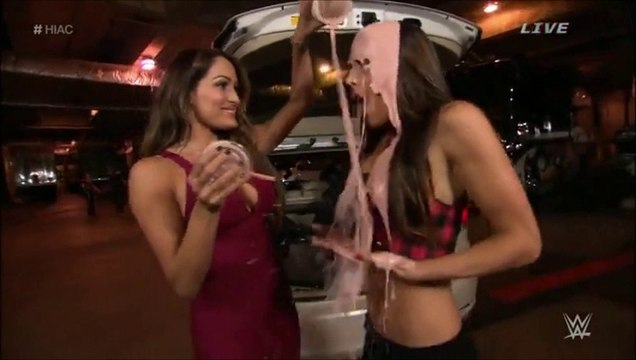 Nikki Bella Spilled milkshake all over Brie Bella a.k.a. Brie Mode