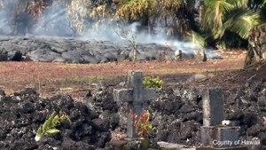 Volcanic Lava Covers Hawaiian Graveyard